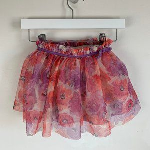 Cherokee Toddler Floral Tulle Skirt - Size 3T